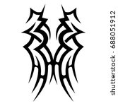 tattoo tribal vector design.... | Shutterstock .eps vector #688051912