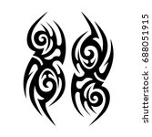 tattoo tribal vector design.... | Shutterstock .eps vector #688051915