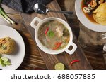 hot and spicy soup with pork... | Shutterstock . vector #688057885