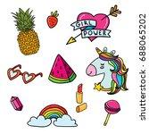 doodle sketch illustration... | Shutterstock .eps vector #688065202