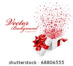 hearts fly from open gift... | Shutterstock .eps vector #68806555