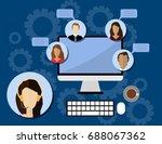 flat style design for online... | Shutterstock .eps vector #688067362