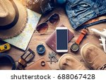 travel accessories costumes.... | Shutterstock . vector #688067428