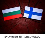 bulgarian flag with finnish... | Shutterstock . vector #688070602