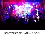 crowd at concert and blurred... | Shutterstock . vector #688077208