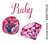 ruby isolated on white... | Shutterstock . vector #688078918