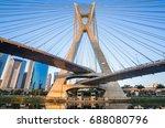 sao paulo landmark skyline  ... | Shutterstock . vector #688080796
