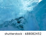 clear blue ice blocks with... | Shutterstock . vector #688082452