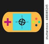 compass simple vector icon....