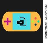tiff simple vector icon....