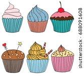 Vector Cupcake Illustration....