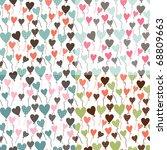 set of cute seamless... | Shutterstock .eps vector #68809663