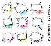 chat bubble icon set pop art... | Shutterstock .eps vector #688100836