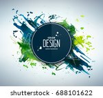 blue green abstract aquarelle... | Shutterstock .eps vector #688101622