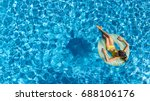 Aerial View Of Girl In Swimmin...