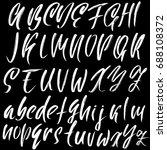hand drawn dry brush font.... | Shutterstock .eps vector #688108372