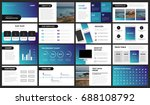 modern purple and blue gradient ... | Shutterstock .eps vector #688108792