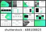 modern green gradient... | Shutterstock .eps vector #688108825