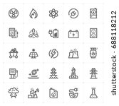 mini icon set   energy and... | Shutterstock .eps vector #688118212