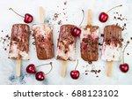 black forest chocolate fudge... | Shutterstock . vector #688123102