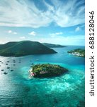 british virgin islands aerial | Shutterstock . vector #688128046