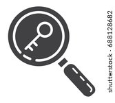 keyword research glyph icon ... | Shutterstock .eps vector #688128682
