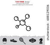 web icon. molecule | Shutterstock .eps vector #688129036