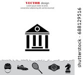 web icon. classical building... | Shutterstock .eps vector #688129516