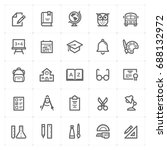 mini icon set   school and... | Shutterstock .eps vector #688132972
