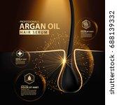 argan oil hair care protection... | Shutterstock .eps vector #688139332