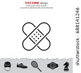 web line icon. adhesive plaster | Shutterstock .eps vector #688141246