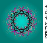 snowflakes pattern. flat design ... | Shutterstock . vector #688143232