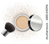 make up loose powder with... | Shutterstock .eps vector #688144096