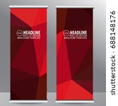 roll up business brochure flyer ... | Shutterstock .eps vector #688148176