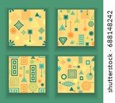 set abstract seamless patterns... | Shutterstock .eps vector #688148242