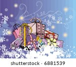 winter holiday grunge... | Shutterstock .eps vector #6881539