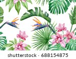 bright seamless pattern with...   Shutterstock . vector #688154875