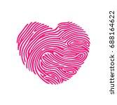 heart shape abstract finger... | Shutterstock . vector #688164622
