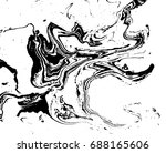 black and white liquid texture. ... | Shutterstock .eps vector #688165606