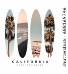 photo print surfboard... | Shutterstock . vector #688169746