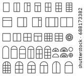 set of different windows... | Shutterstock . vector #688173382