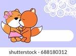 cute love baby boy and girl fox ... | Shutterstock .eps vector #688180312