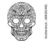 sugar skull. the traditional... | Shutterstock .eps vector #688181482