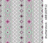 vector seamless ethnic pattern | Shutterstock .eps vector #688183912