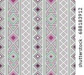 vector seamless ethnic pattern | Shutterstock .eps vector #688183912