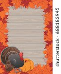 thanksgiving frame. vector... | Shutterstock .eps vector #688183945