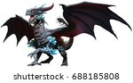 Stock photo blue dragon d illustration 688185808