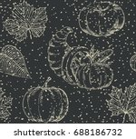 thanksgiving seamless pattern.... | Shutterstock .eps vector #688186732