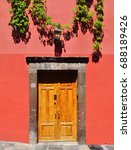 mexican house colonial style... | Shutterstock . vector #688189426