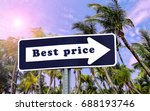 best price sign. blue and white ...   Shutterstock . vector #688193746